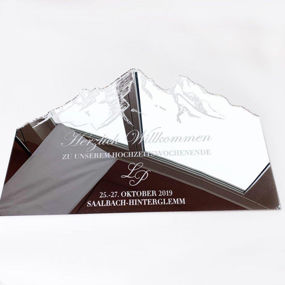 Acrylschild_Berg personalisiert Die Macherei