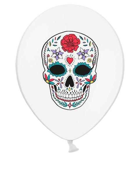 Dia de los muertos Ballons weiß