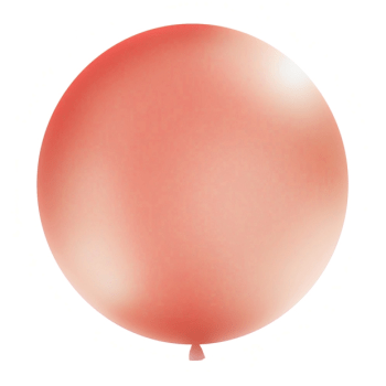 Riesen Luftballon Blush Metallic 100cm . DIe Macherei
