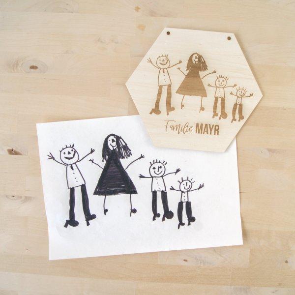 Holzplakette Minidesign Die Macherei