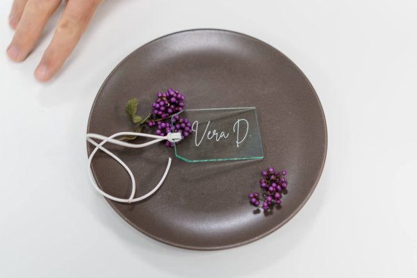 Acryl Placecards Kofferanhänger Die Macherei