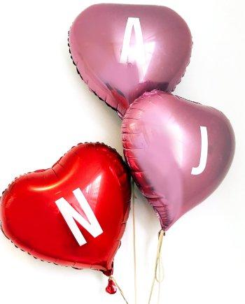 Luftballon Herz rot rosa mit Buchstaben personalisierbar