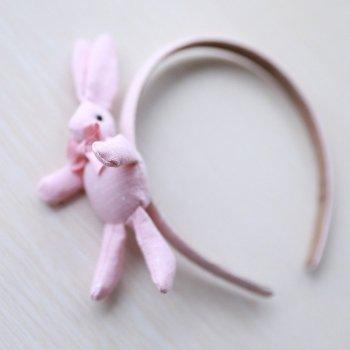 Haarreifen Hase rosa