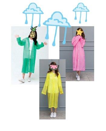 Regenmantel durscheinend 3 Farben. Die Macherei
