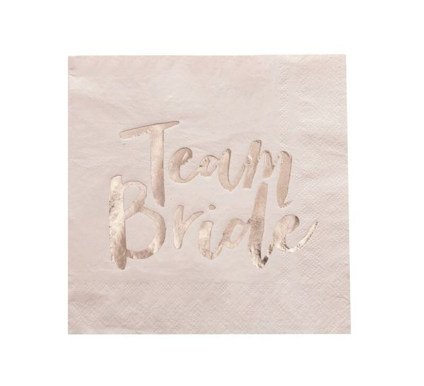Team Bride Servietten Rose Gold