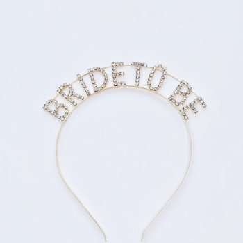 Haarreifen Glitzersteine Bride To Be Die Macherei
