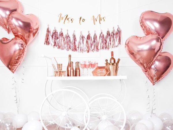 Folienballon Herz Rosé Gold