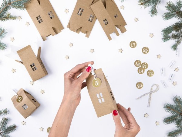Adventkalender Set DIY Kartonhaus3