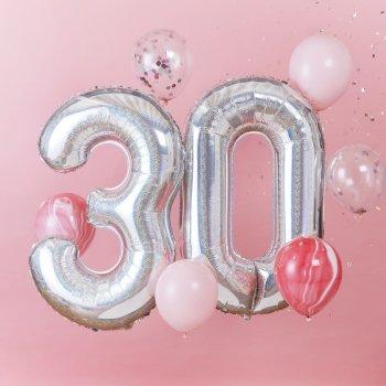 Luftballon Set 30 Geburtstag 8tlg