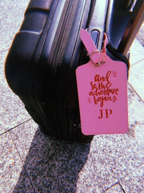 Kofferanhänger Kunstleder personalisierbar
