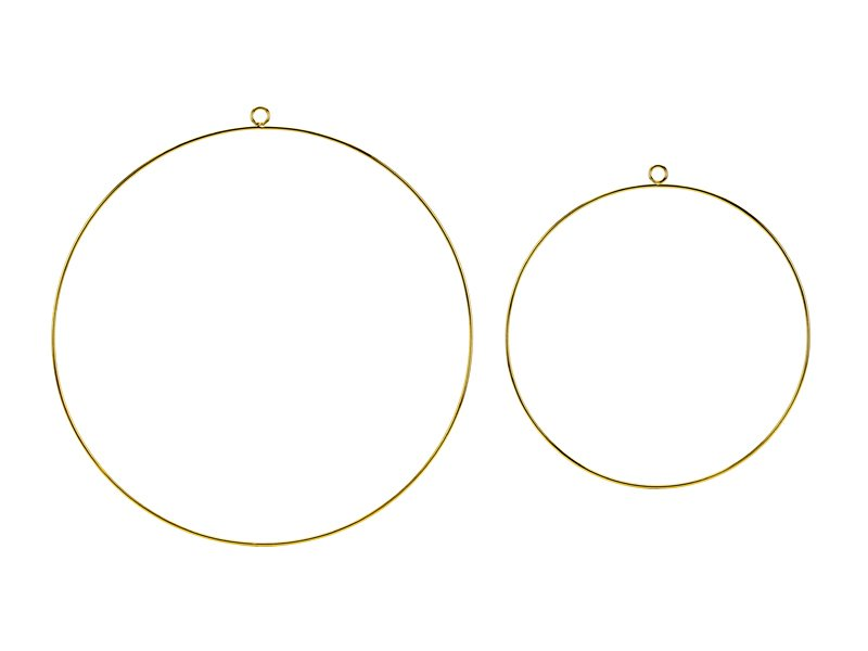 Deko Metallring Gold personalisierbar