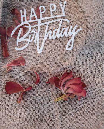 MINI Caketopper Happy Birthday Acryl