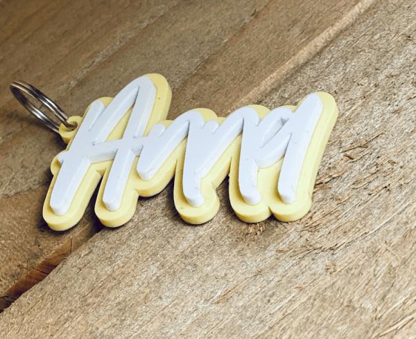 Schlüsselanhaenger Pastellkollektion 2 lagig Die Macherei