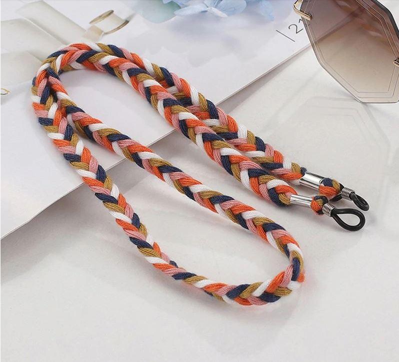 Brillenkette geflochten 3 Farben Multicolor