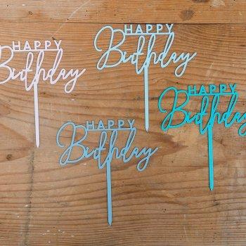 Mini Happy Birthday lackiert