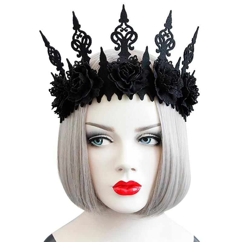 Headpiece Black Crown