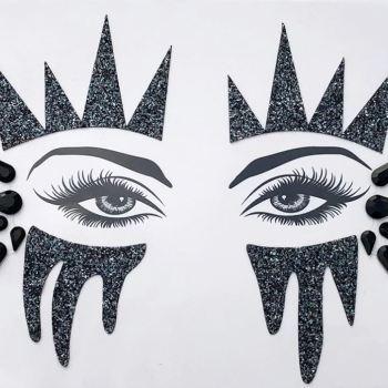 Augen Aufkleber Black Widow