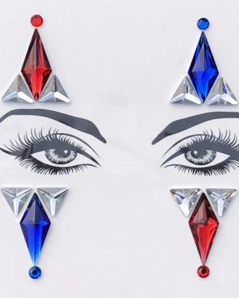 Augen Aufkleber Harlekin