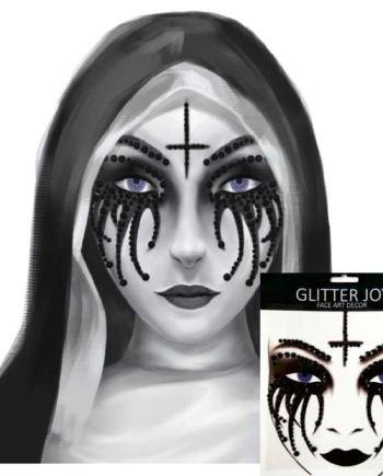 Gesicht Aufkleber Schwarze Nonne