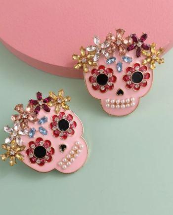 Ohrringe multicolor skull