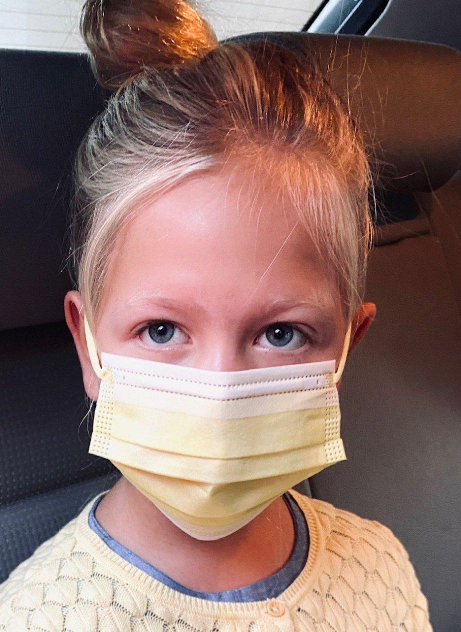 Kinder Einwegmasken OP Masken Hellgelb