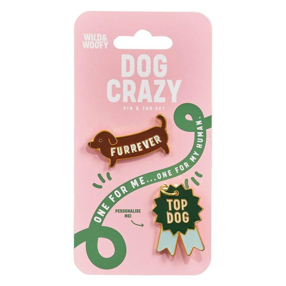 Hundemarke & Emaille Pin Set Macherei