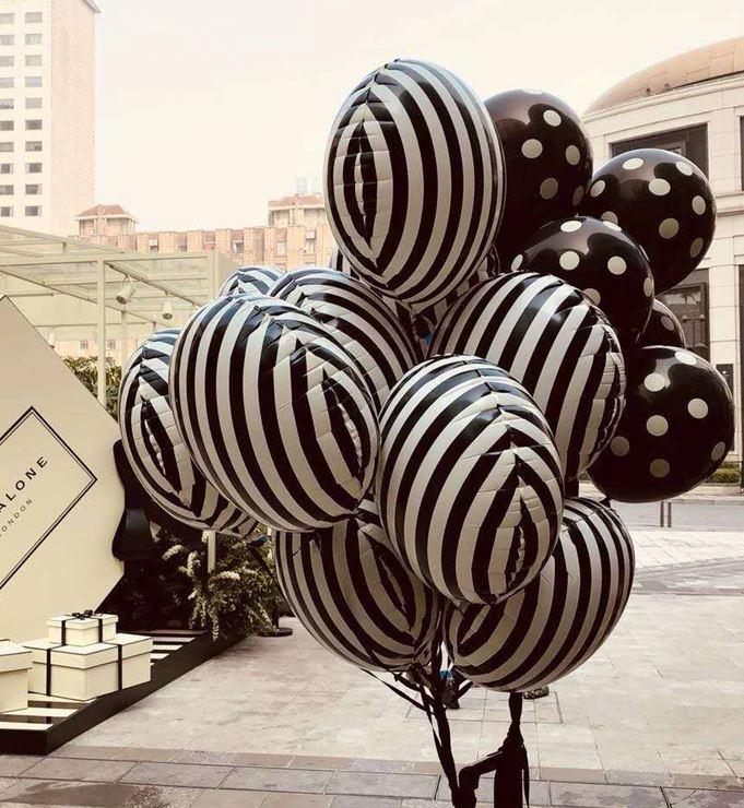 Folienballon monochromatic gestreift