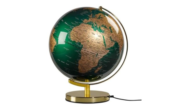 Wanderlust Globuslampe Emerald Gold