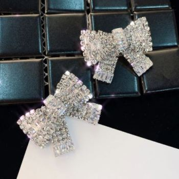 Statement Ohrringe Sparkle Bow