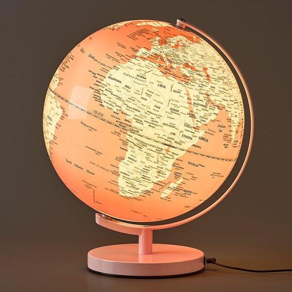 Wanderlust Globuslampe Rosa