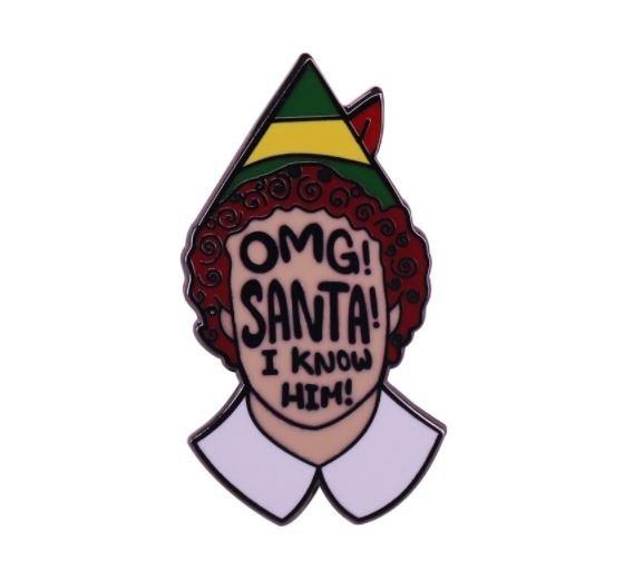 Emaille Pin Santa I know him