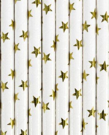 """Strohhalm """"goldene Sterne"""""""