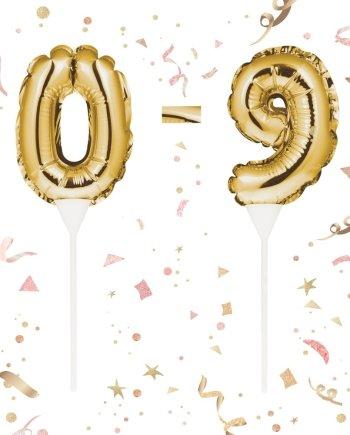 Mini Folienballon Zahlen Topper