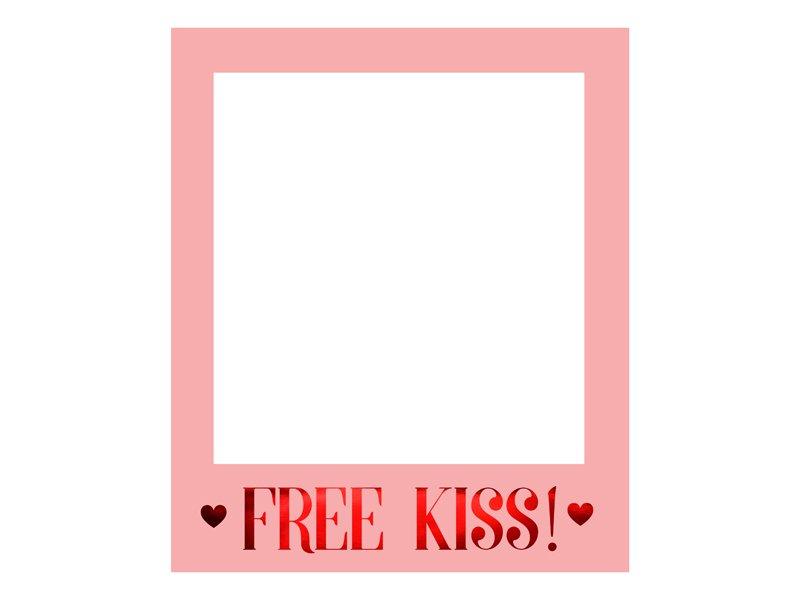 Photo Booth Rahmen Polaroid Free Kiss