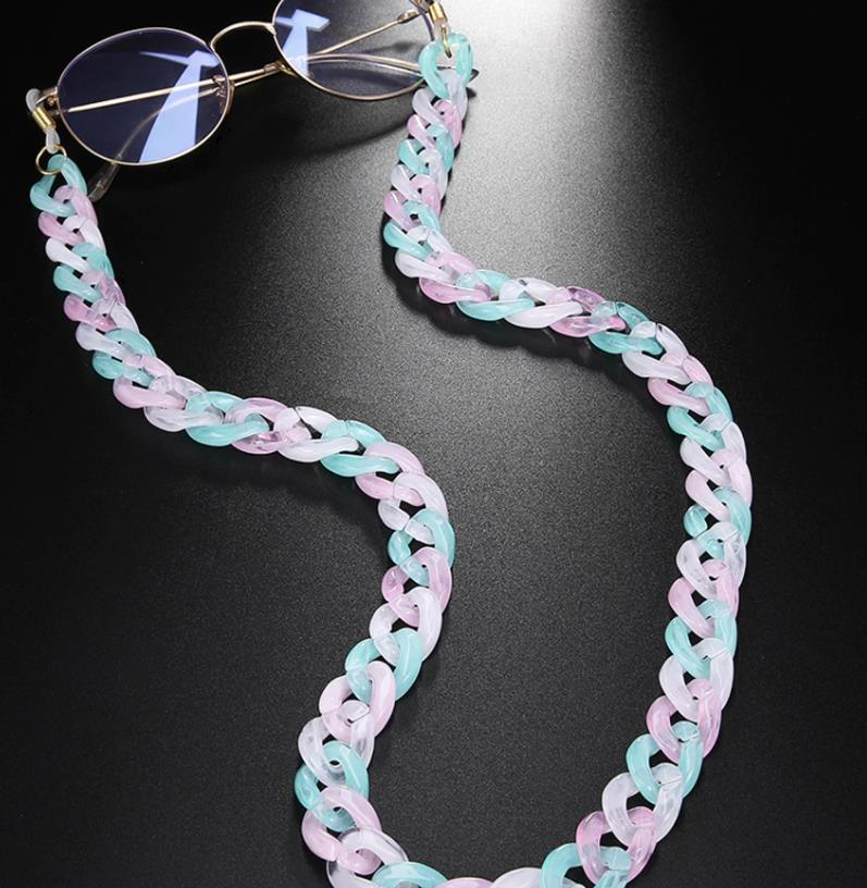 Brillenkette Maskenkette Chunky Pastell Mix
