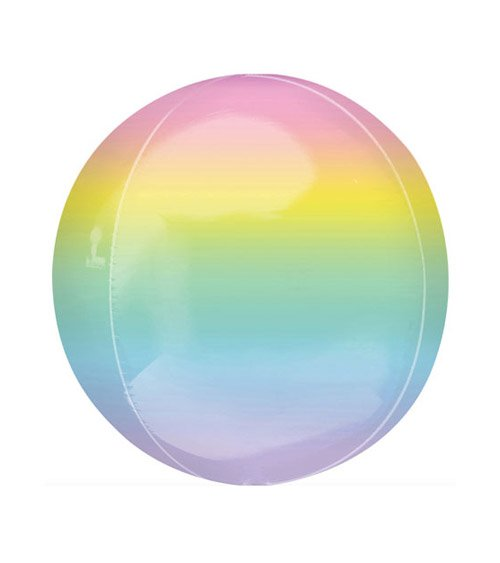 Folienballon Regenbogen Pastell