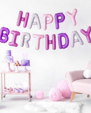 Ballongirlande Happy Birthday
