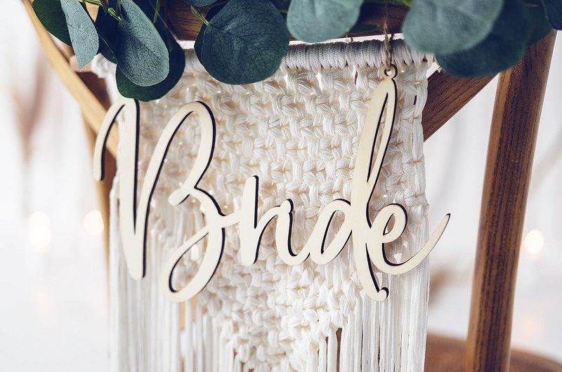 Stuhlschilder Bride Groom