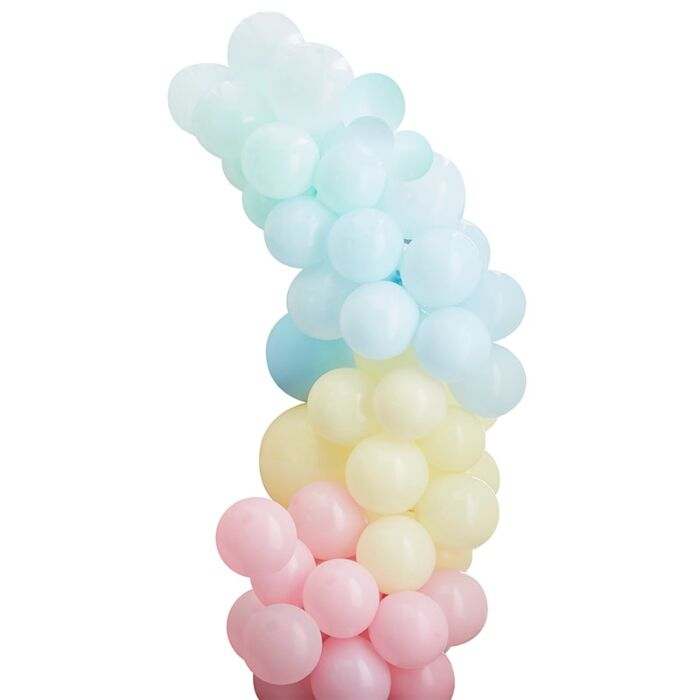 Ballongirlande Pastell