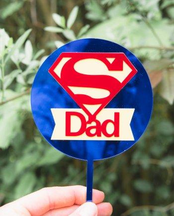 "Caketopper ""Superman Dad"""