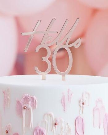 Caketopper Hello 30