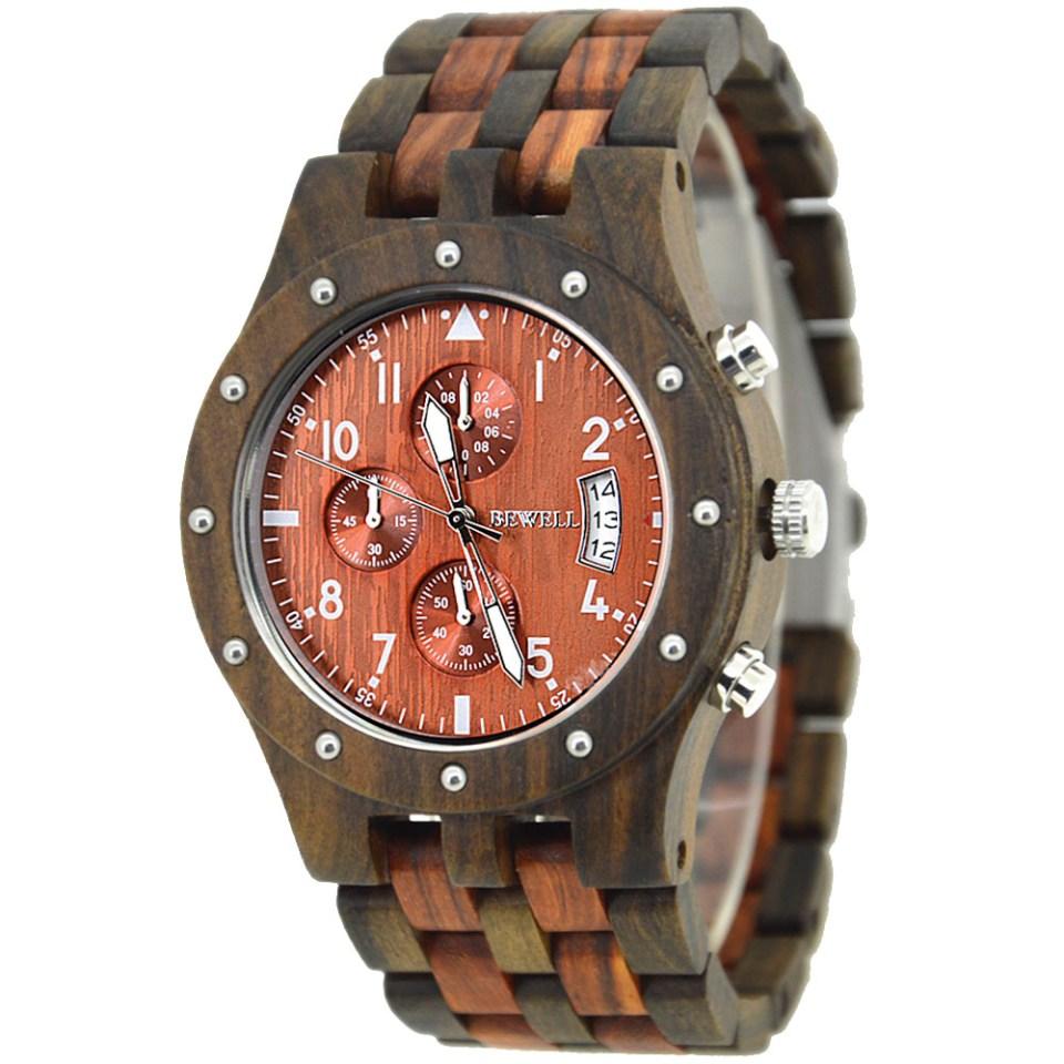 houten horloge voor heren