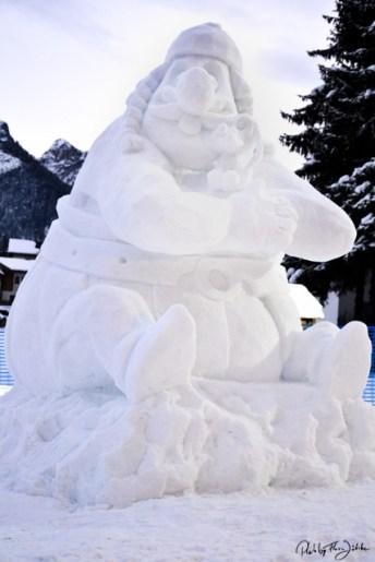 Der Sieger des Schneeskulpturen Festivals 2014 ist Oberlix aus Laas Südtirol