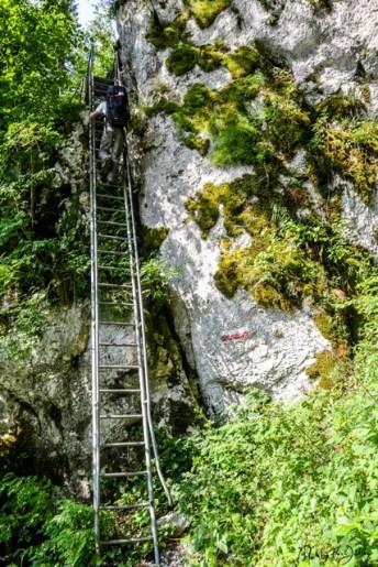 Leiter für steile Aufstiege