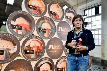 "Ana Almeida vor der Projektpräsentation Histórias Criativas, ""Aldeias historicas de portugal"". Foto: Flora Jädicke"