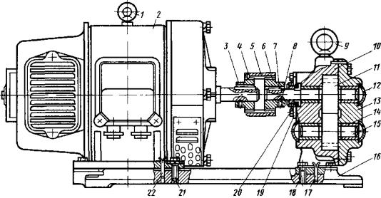 Маслопрокачивающий агрегат