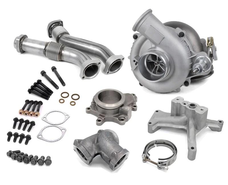 dieselsite ball bearing 60mm wicked turbo kit 94 97 ford 7 3l powerstroke