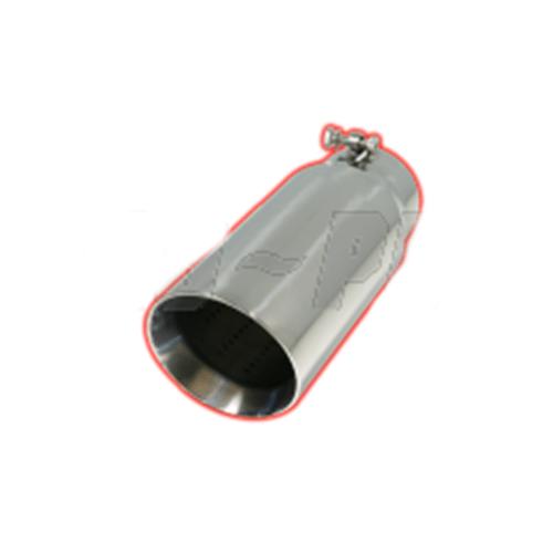 flo pro double wall slant cut bolt on exhaust tip