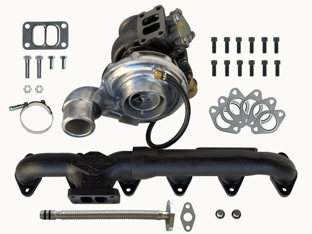 dps turbo exhaust manifold package for fummins swap ford cummins 12v 24v 5 9 6 7