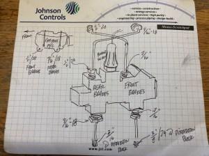 Master cylinder brake line fitting size  Dodge Diesel